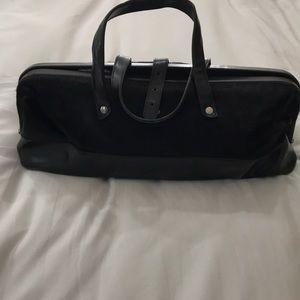 COPY - Furla leather and fur purse black